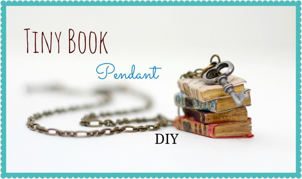 tiny book pendant thumb