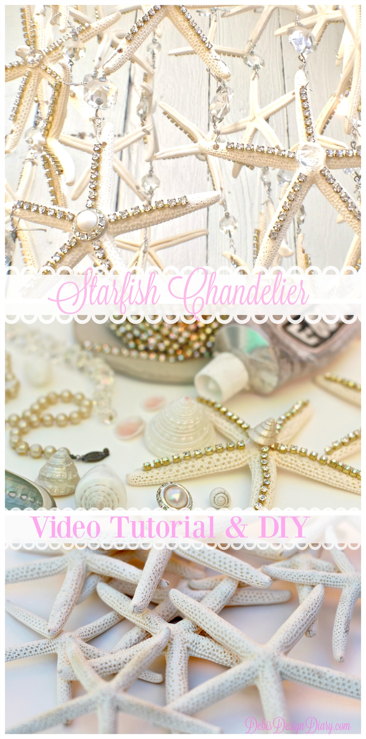 Starfish chandelier tutorial debis design diary how to make a starfish chandelier aloadofball Image collections