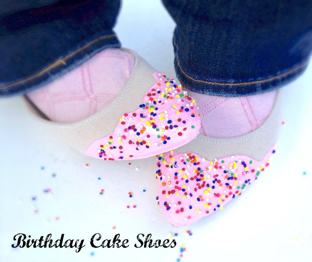 birthday cake shoes