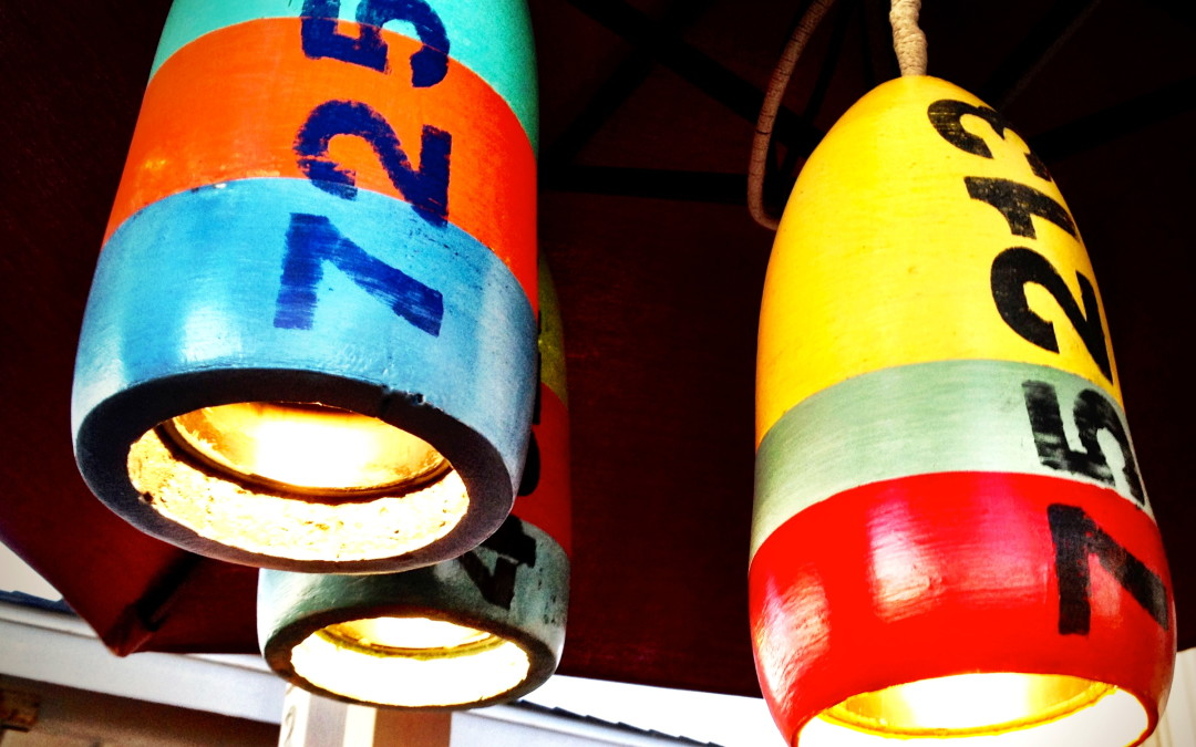 DIY Recycle a buoy into a pendant light!