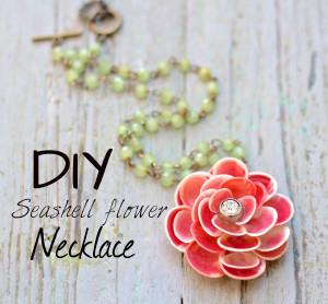 DIY shell flower
