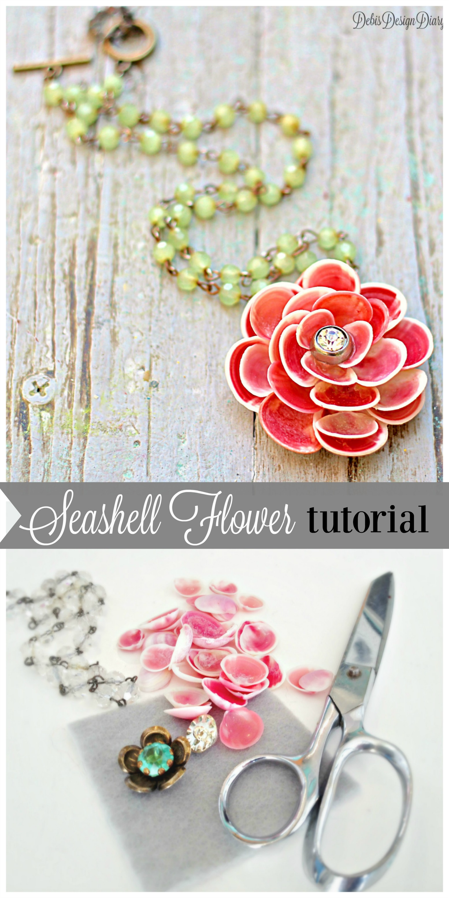seashell flower DIY