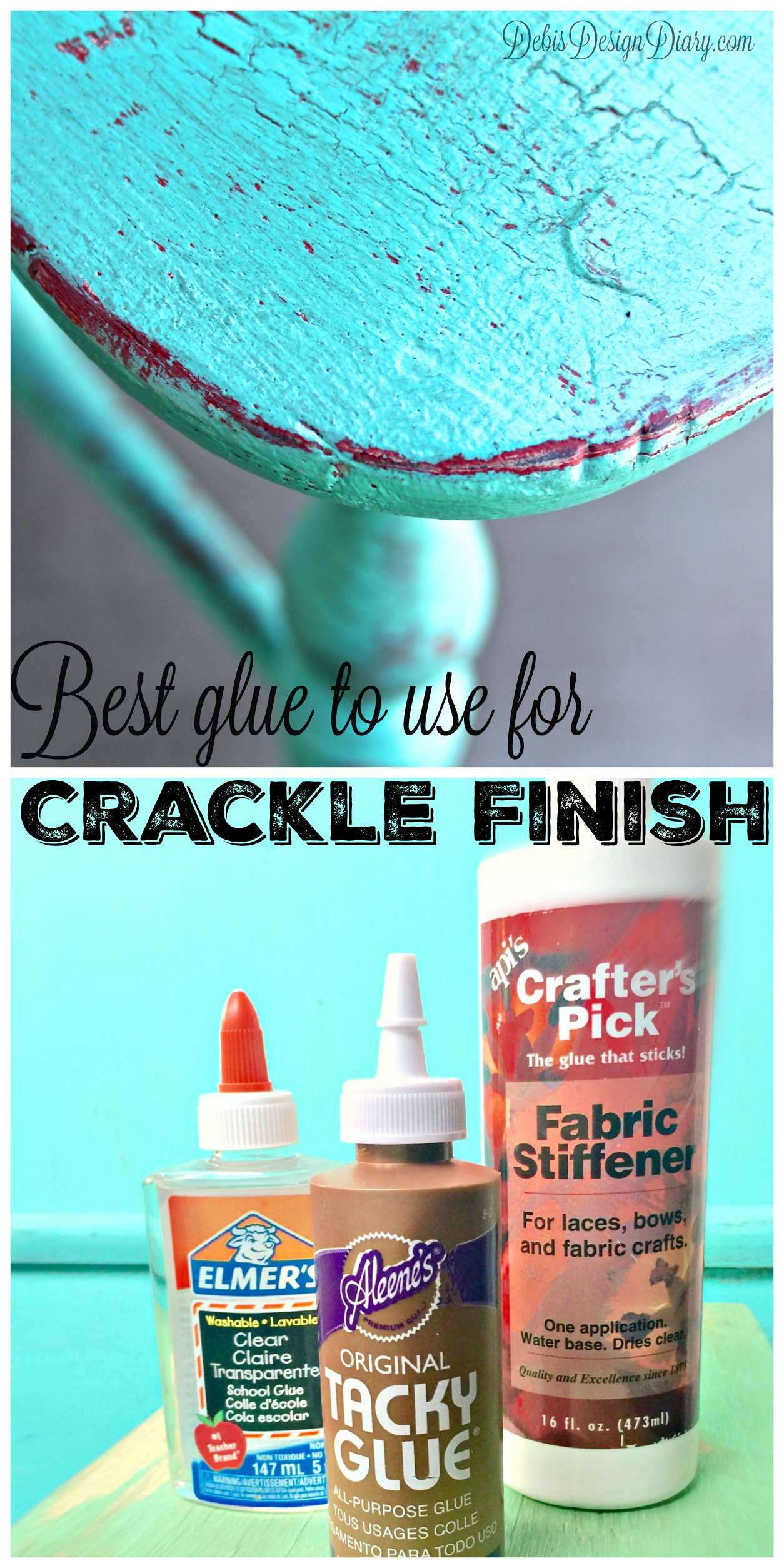 crackle paint finish with elmer s glue debis design diary