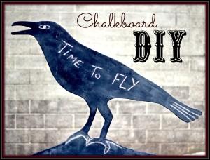 crow chalkboard