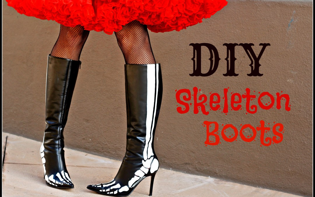 DIY Skeleton Boots and Giveaway!