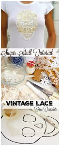 vintage lace sugar skull tutorial