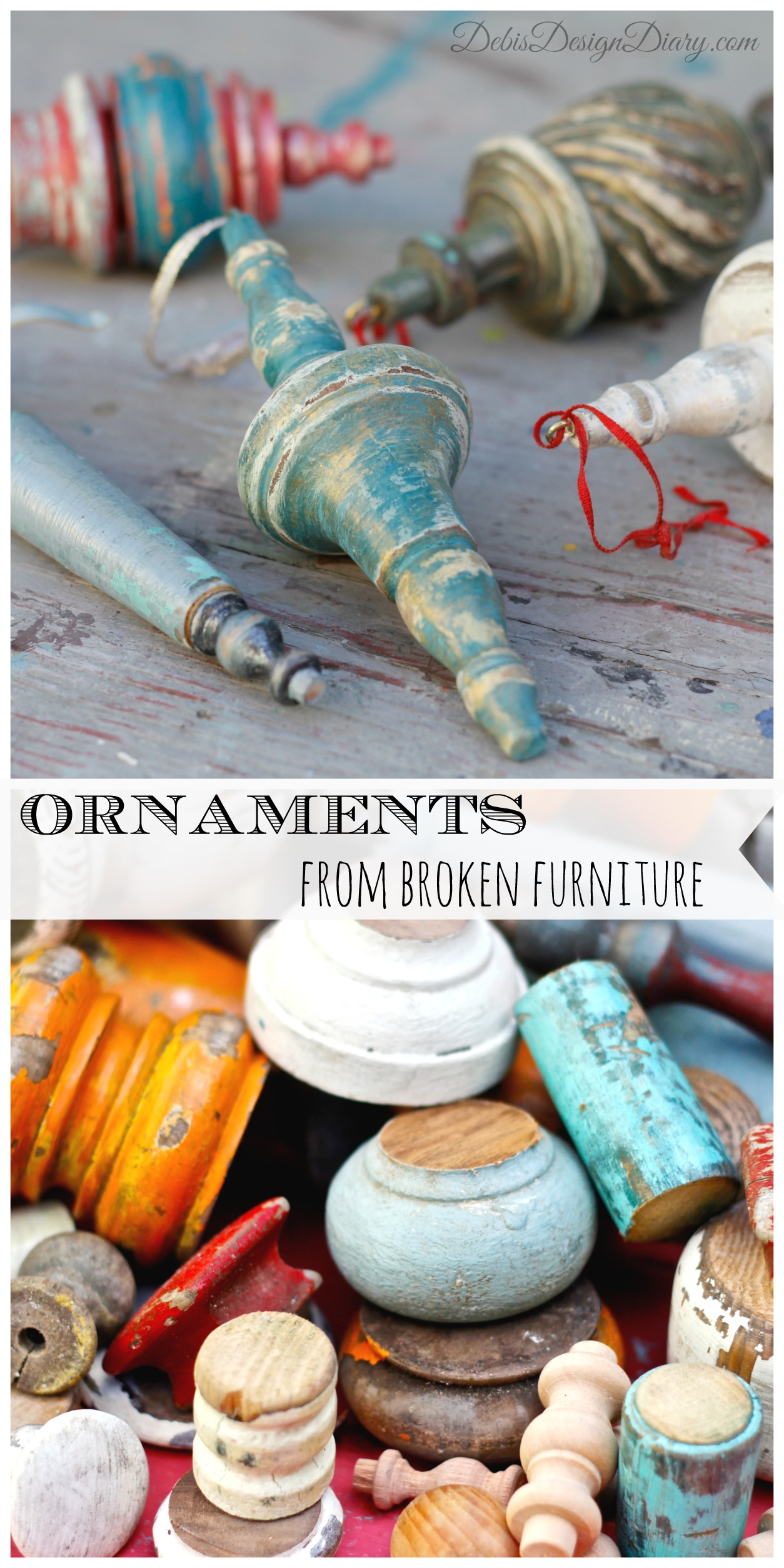 How to make ornaments from broken furniture