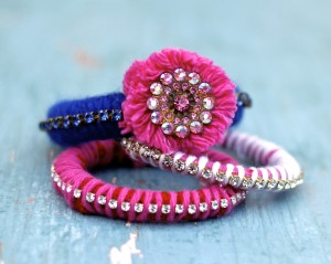 Make a dozen Recycled Sweater Bracelets… for under 20$