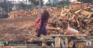 how to make an stump ottoman