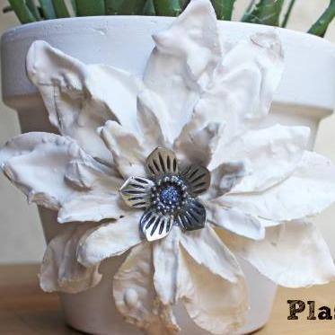 plaster dipped flowers