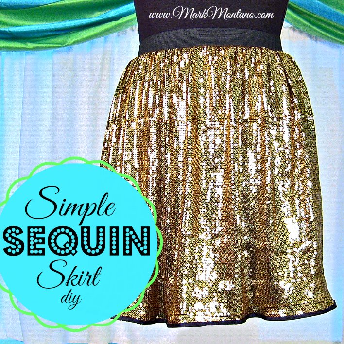 simple sequin skirt