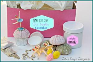 Sea urchin cupcake kit