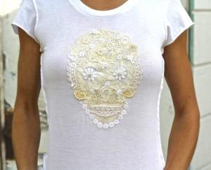 lace sugar skull