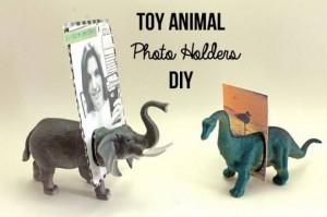 toy animal photo holders