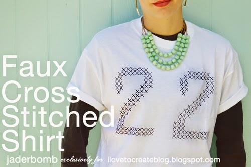 cross stitch tee