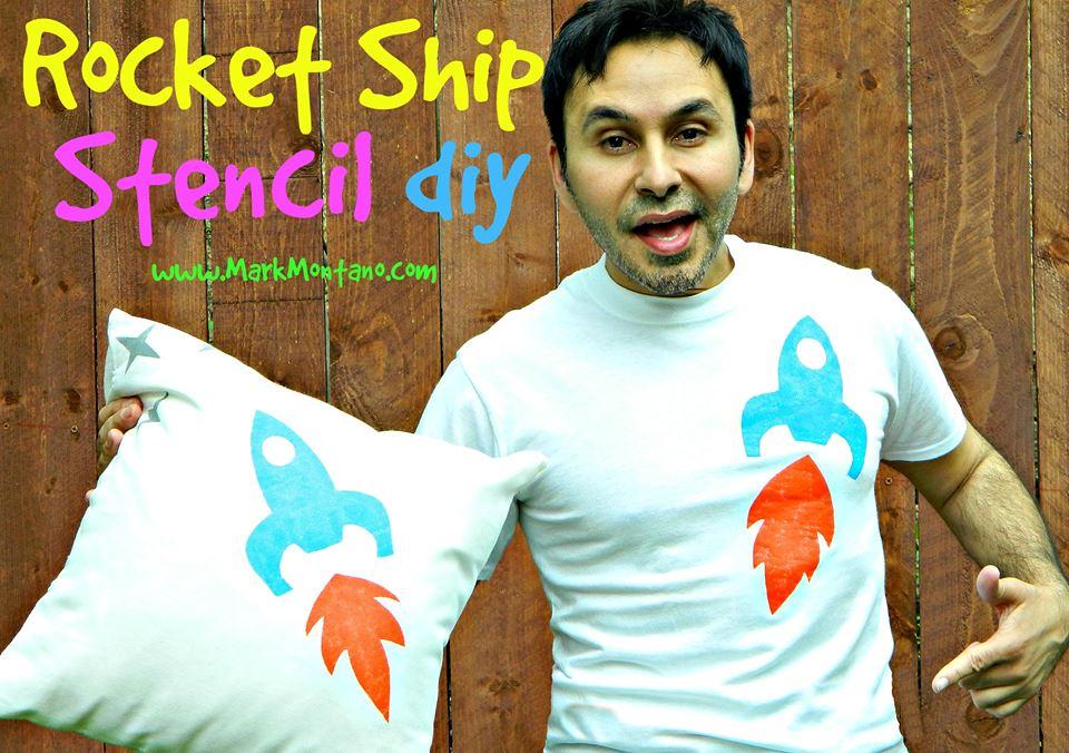 rocket ship stencil