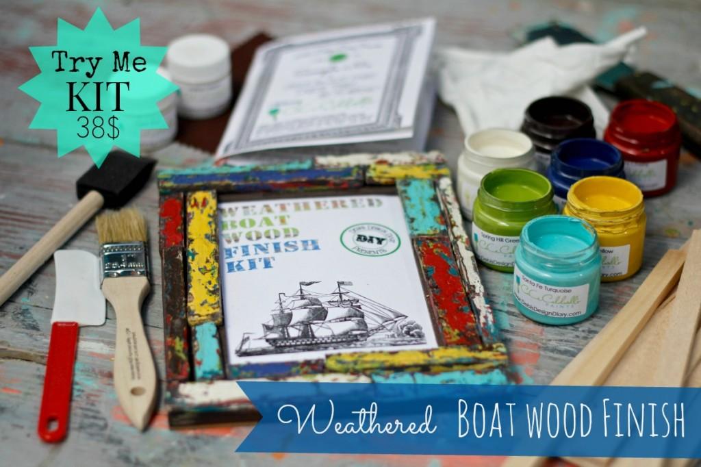 Chippy Paint boat wood finish kit