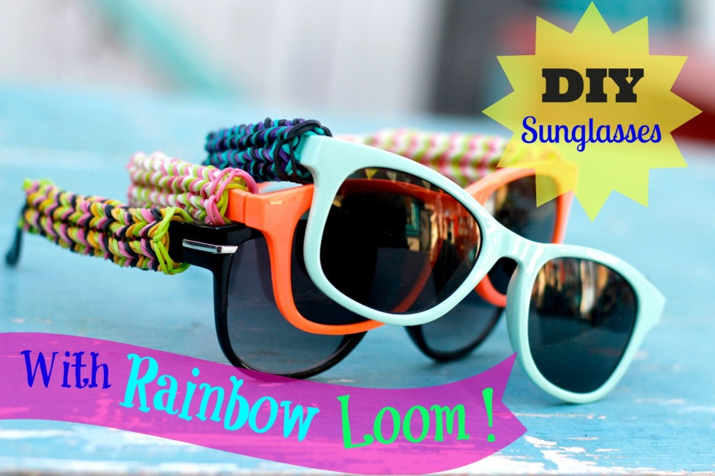 rainbow loom glasses thumb