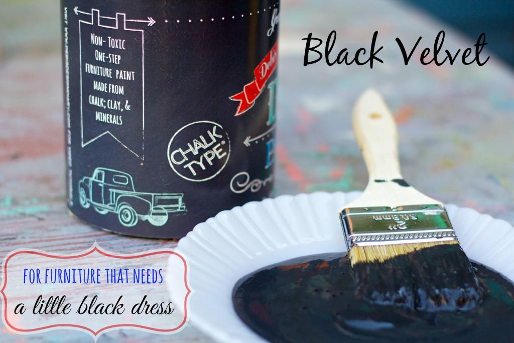 black velvet can side