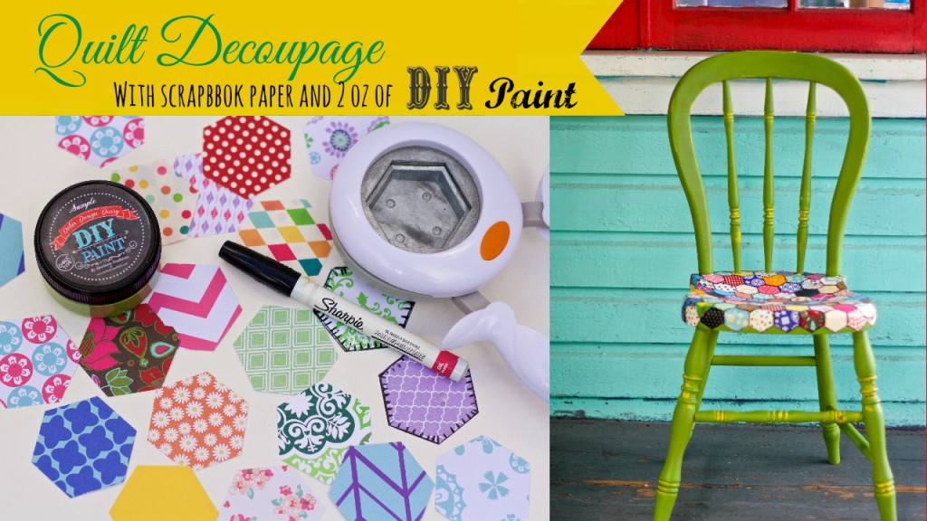 Youtube thumb quilt decoupage chair