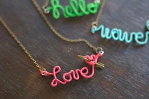 DIY Wire Word Jewelry