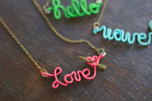 DIY Wire Word Jewelry