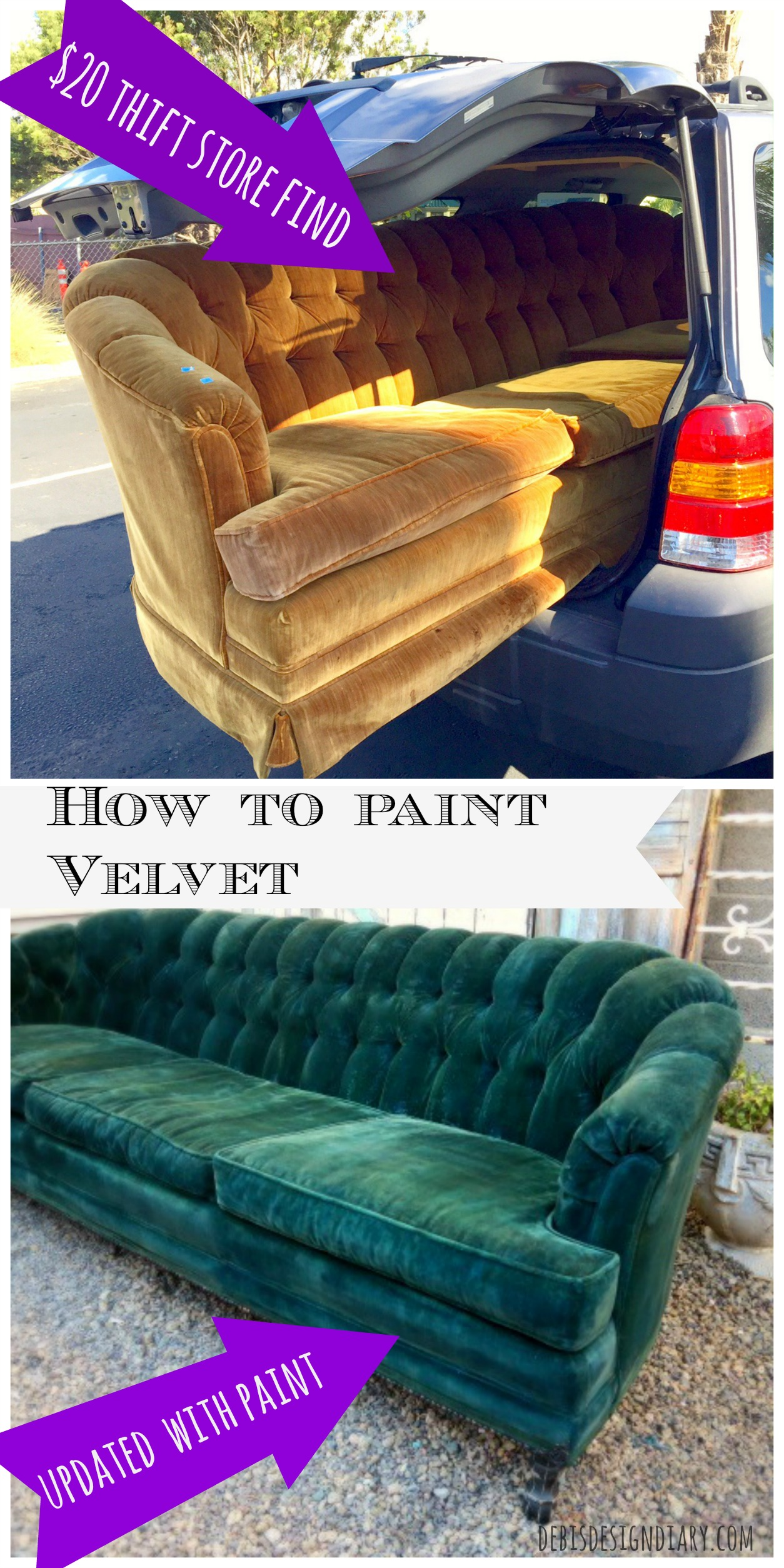 How To Paint Velvet Upholstery