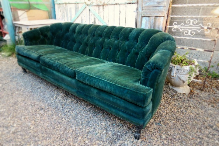 Beautiful Velvet Sofa #1