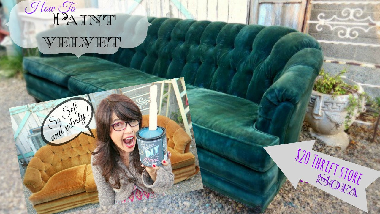 Attractive Velvet Sofa Thumbnail