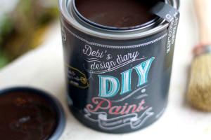 Layered Chocolate DIY Paint