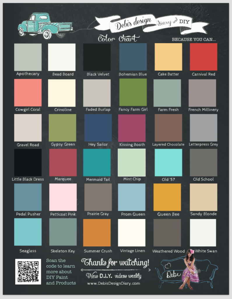 DIY paint color chart