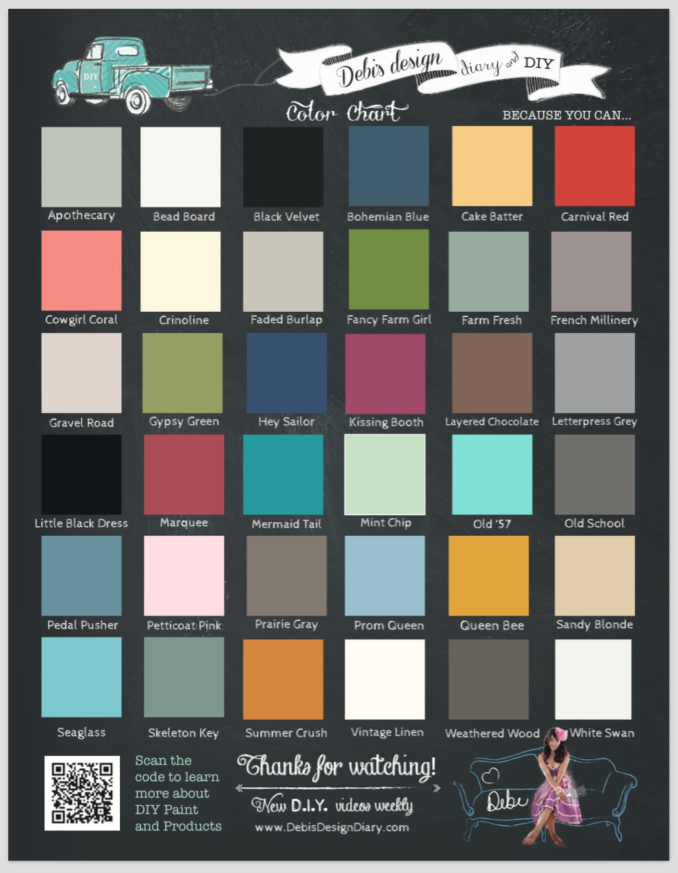 printed color charts pack of 100 debis design diary
