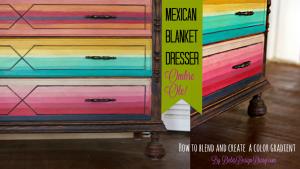 Mexican blanket dresser