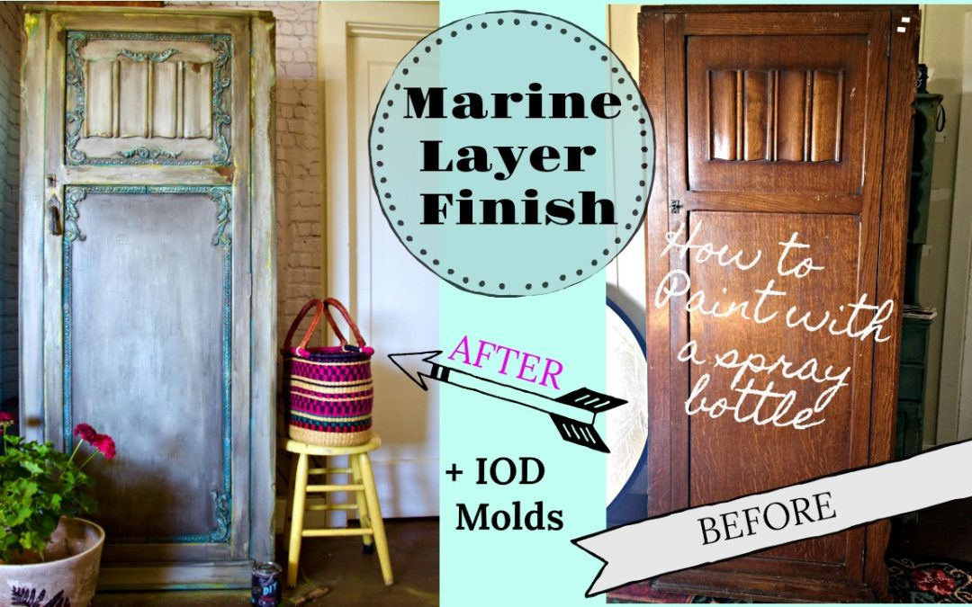 New Video- How to blend paint with a spray bottle and using clay furniture molds