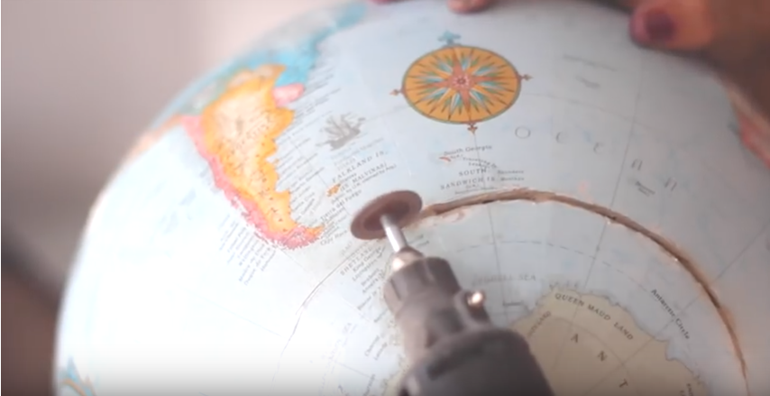 Globe dremel cut