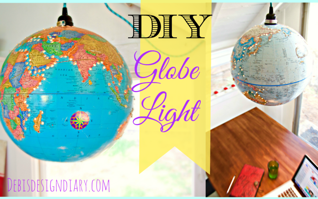 How to create a light fixture from a vintage world globe
