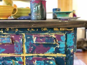 chippy paint finish island camoflauge