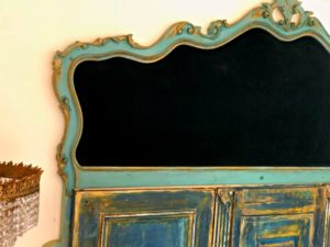 Headboard bed close velvet