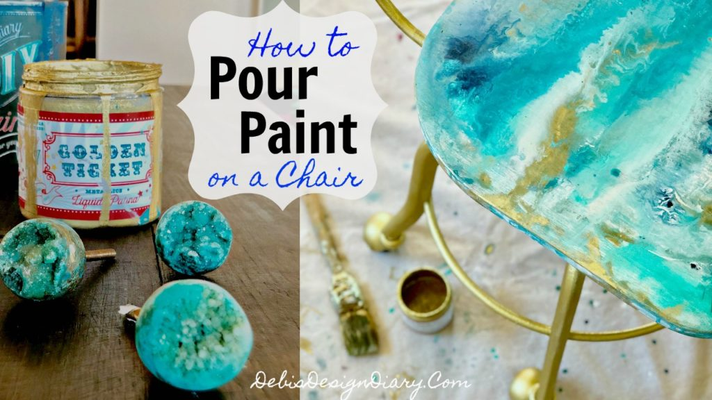 Geode Pour Paint chair Thumb