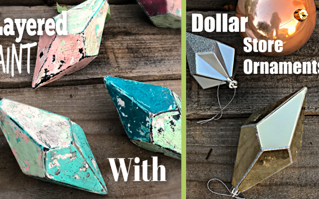 Dollar Store Christmas Ornaments Transformed with Frozen Paint and the Story of Bobby